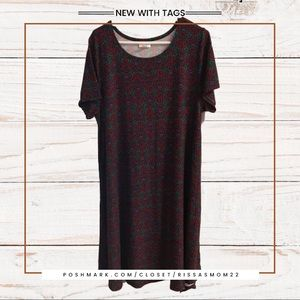 LULAROE Carly Dress Multicolor Super Soft XL NWT